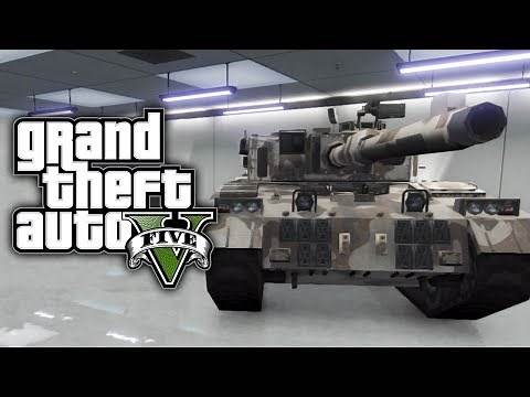 GTA 5 Online: How To Save & Insure A TANK In Your Garage (GTA V)