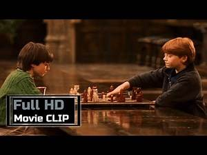Harry Potter and the Philosopher's Stone (2001) - Movie CLIP #34 : Harry and Ron Playing Wizard's...