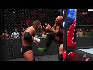WWE 2K20 HELL IN A CELL: Triple H vs. Batista - Full Match Gameplay