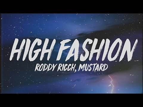 """Roddy Ricch - High Fashion (Lyrics) ft. Mustard """"If we hop in the benz is that okay"""""""