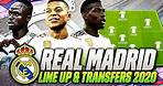 REAL MADRID JANUARY TRANSFERS TARGETS 2019/2020 & LINE UP | CONFIRMED TRANSFERS | w/ MANÉ & MBAPPÉ