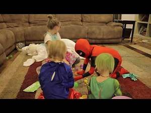 Baby Heroes Easter: Kid Deadpool & Hulk vs Easter Bunny a laugh comics in real life video || $ 143