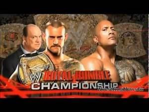 WWE Royal Rumble 2013 Match Card