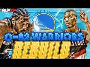 THE NEW SUPER TEAM?? REBUILDING AN 0-82 WARRIORS TEAM!! NBA 2K17 MY LEAGUE!!!