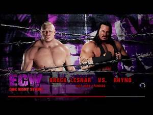 WWE 2K18 Brock Lesnar VS Rhyno Requested Last Man Standing Match