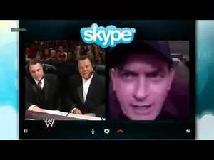 Charlie Sheen Challenges Daniel Bryan WWE Raw 1000th Episode