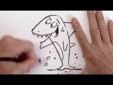How to Draw Shark - Funny Cartoon - Very Easy