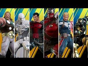 Marvel Ultimate Alliance 3 - All New Characters & Costumes (Marvel Knights DLC)