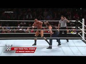 WWE Roadblock Triple H VS Dean Ambrose