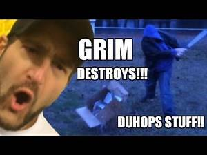 Grim DESTROYS Duhops HOUSE!! REVENGE for Stolen WWE Royal Rumble Ticket!