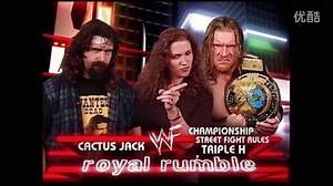 WWE Royal Rumble 2000 Triple H vs. Cactus Jack Street Fight WWF Championship