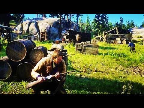 Red Dead Redemption 2 - Saving SEAN From The Bounty Hunter At Blackwater | GAMING GOLD