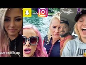 WWE Snapchat/Instagram ft. Alexa Bliss, Liv Morgan, Lacey Evans, Charlotte, Andrade n MORE