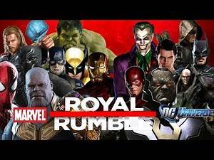 MARVEL VS DC - 30 MAN ROYAL RUMBLE - HEROES & VILLAINS