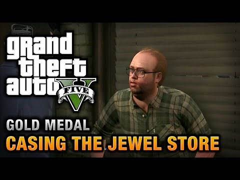 GTA 5 - Mission #11 - Casing the Jewel Store [100% Gold Medal Walkthrough]