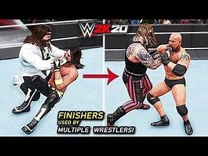 WWE 2K20 Top 10 Finishers That Have Been Used by Multiple Wrestlers!