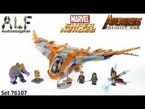 Lego Super Heroes 76107 Thanos : Ultimate Battle - Avengers Infinity War - Lego Speed Build Review