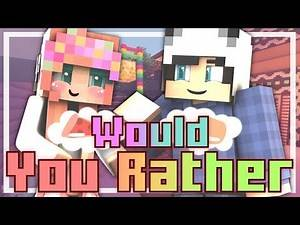"""Minecraft   Would You Rather   """"THE TOUGH QUESTIONS!"""""""