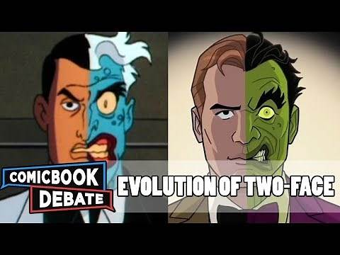 Evolution of Two-Face in Cartoons in 8 Minutes (2017)
