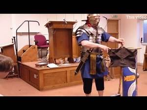 Roman soldier and the Soldier Of Christ - with real Roman Armour Christadelphians