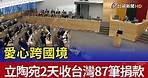 愛心跨國境 立陶宛2天收台灣87筆捐款