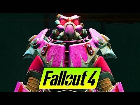 FALLOUT 4 BARBIE PINK POWER ARMOR GUIDE - Hot Rod Hot Pink Paint Location Guide