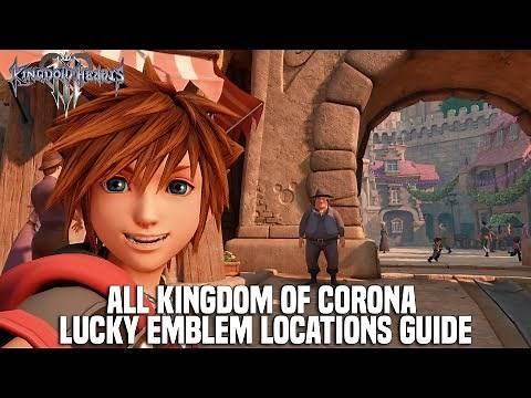 Kingdom Hearts 3 - Kingdom of Corona Lucky Emblem Locations Guide (Mickey Emblem Locations)