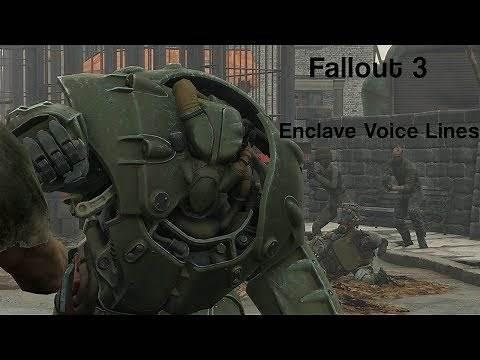 Fallout 3 - Enclave Voice Lines