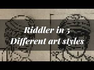 Drawing DC's The Riddler in 5 Different Art Styles!!!