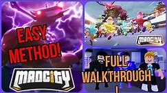 Mad City Season 7 Boss Fight! Record time!! Full Walkthrough! Easy Method!