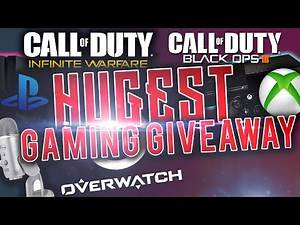 BIGGEST GAMING GIVEAWAY! INFINITE WARFARE, BF1, OVERWATCH BLUE MICROPHONES, GIFT CARDS & MORE!
