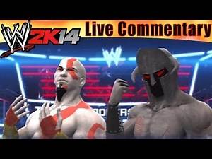 PS3 WWE 2K14 God of War Kratos vs Hades Multiplayer Battle with Live Dual Commentary!