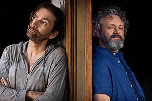 Michael Sheen jokes David Tennant twisted his arm to co-star in BBC's Staged with 'a lot of dirt' on