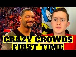 MMA FAN REACTS TO CRAZIEST WWE CROWDS (surprising...)