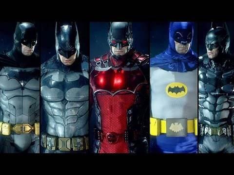 Batman Arkham Knight - All PS4 Batsuits / Skin DLC Version 1