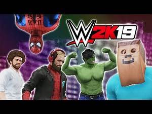 CHILDHOOD HEROES BATTLE IT OUT!! - NEW FUNNY WWE 2K19 GAME (ONLINE MULTIPLAYER)