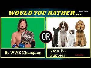 WWE WOULD YOU RATHER Hardest Choice ROMAN REIGNS PUNCH or RANDY ORTON RKO 2018 HD by village chubs