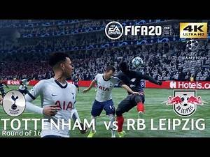 FIFA 20 (PC) Tottenham vs RB Leipzig | UEFA CHAMPIONS LEAGUE ROUND OF 16 | 19/2/2020 | 4K 60FPS