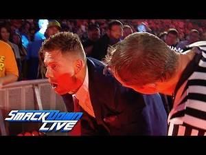 """The Miz stumbles off the """"Miz TV"""" set: SmackDown Exclusive, Aug. 20, 2019"""