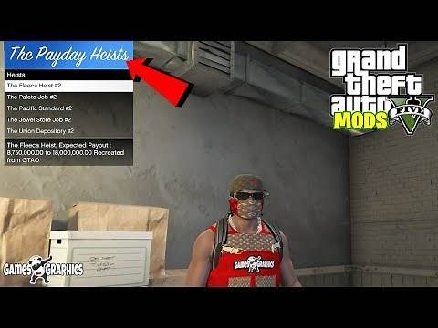 How to install (The Pay Day) Single Player Heist Mod (2019) GTA 5 MODS