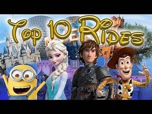 Top 10 Rides Based on Animated Films