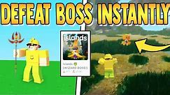 how to BEAT the WIZARD BOSS INSTANTLY!! Islands/Skyblock ROBLOX