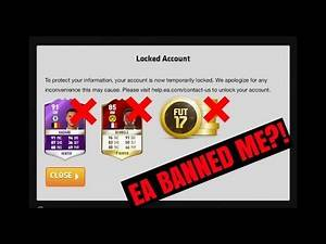 FIFA 17 LOCKED ACCOUNT!!! - EA BANNED ME?! (HOW TO UNLOCK ULTIMATE TEAM ACCOUNT)