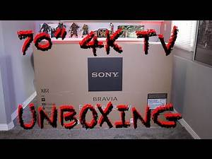 "SONY 70"" 4K 3D TV UNBOXING"