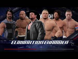 WWE Styles VS Cena,Undertaker,Goldberg,Lesnar,Rollins Requested Elimination Chamber Match