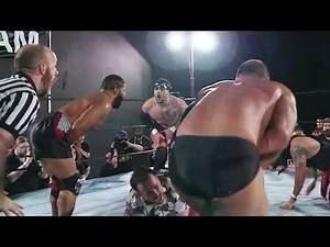 Dan Barry simultaneously low blows Team Pazuzu   Beyond Wrestling #Caffeine (Watch on FloSlam.TV)