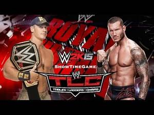 WWE 2K15 TLC Match John Cena VS Randy Orton
