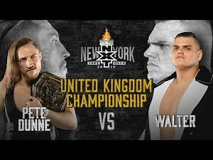 WALTER aims to dethrone Pete Dunne at TakeOver: New York: WWE NXT, April 3, 2019