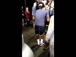 Lebron stops to give kid....