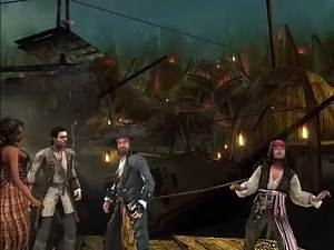 Disney Pirates of the Caribbean At World's End PC Game Chapter 11 Shipwreck City Part 1No Commentary
